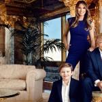 Melania Trump v družbi soproga in sina.
