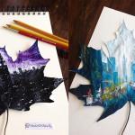 Jesensko listje, kot slikarsko platno