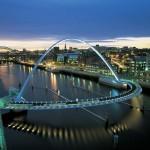 Gateshead Millennium Bridge, Gateshead (Anglija)