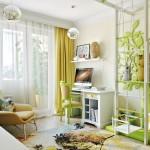 Otroška soba v zeleno-beli kombinaciji