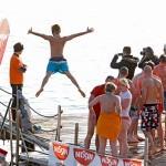 12. novoletni skok v morje