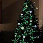 Projekcijski okraski za božično drevo.