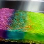Kameleonska torta, ki spreminja barvo.