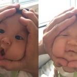 Otroški obrazi kot riževe kroglice