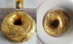 Zlat krof posut z zlatimi lističi