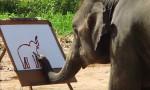 Slon slikar