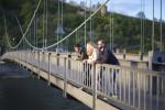 Zahajajoče sonce je pobožalo Donavo