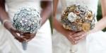 Poročni šopki iz brošk