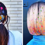 Poslikani lasje – novi modni trend v barvah mavrice