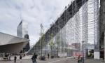 Monumentalne stopnice sredi Rotterdama