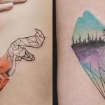 Geometrični tatuji Jasper Andresa