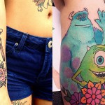 Tatuji z motivi iz Pixarjevih animacij