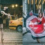 Baletniki na ulicah New Yorka.