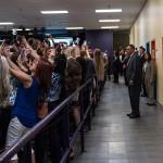 Skupinski selfi s Hillary Clinton