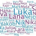 Pogostost slovenskih imen in priimkov.
