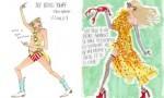 duhovite ilustracije, ki povzamejo življenje deklet med dvajsetim in tridesetim letom