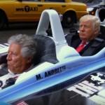 Donald Trump se je po New Yorku prevažal s formulo.