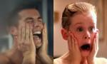 Cristiano Ronaldo kot Kevin McCallister v parodiji na film Sam doma.