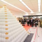 Najvišji stekleni 3D Puzzle na svetu v obliki  piramide.