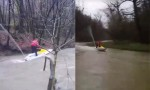 Z vodnim skuterjem po poplavljenih območjih.