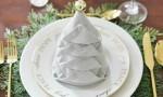 Servieta v obliki božičnega drevesa