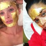 Maska za obraz iz zlata