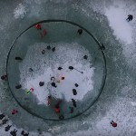 Ledeni vrtiljak na Balatonu