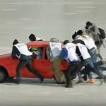 Curling po rusko – z avtomobili
