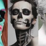 superhude mejkap ideje za noč čarovnic halloween