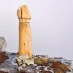 Leseni penis v avstrijskih Alpah