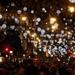 Prižiganje božičnih lučk pri nas in po svetu 2017