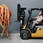 viličar + špageti