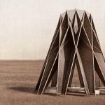 Moderniziran puščavski beduinski šotor v srcu jordanske puščave