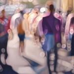 Na 15 umetninah slikar prikaže, kako ljudje s slabim vidom vidijo brez očal.