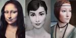 Japonska umetnica naredi neverjetno preobrazbo v Mona Lizo in druge like iz umetniških slik.