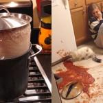 Kuhinjske katastrofe, ki jih redko vidite.
