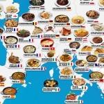 18 zemljevidov, ki prikazujejo, katere okusne jedi ponuja vsaka država na svetu