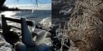 Nizke temperature in močan veter so spremenili Blatno jezero v zimsko čudežno deželo