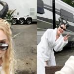 Tukaj je prvi pogled na Angelino Jolie in Elle Fanning kot Zlohotnico in Auroro na prizorišču snemanja Zlohotnice 2.