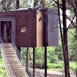 Løvtag: čarobne drevesne hišice na danskem fjordu že čakajo nate