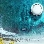 Anthénea: plavajoča luksuzna suita na vodi, ki je kot vesoljska ladja