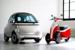 Mestni električni avto Microlino in električni motor Microletta